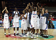 DESCRIZIONE : Katowice Poland Polonia Eurobasket Men 2009 Semifinal 5-8 place Francia France Turchia Turkey <br /> GIOCATORE : Team Francia France<br /> SQUADRA : Francia France<br /> EVENTO : Eurobasket Men 2009<br /> GARA : Francia France Turchia Turkey <br /> DATA : 19/09/2009 <br /> CATEGORIA : esultanza<br /> SPORT : Pallacanestro <br /> AUTORE : Agenzia Ciamillo-Castoria/H.Bellenger<br /> Galleria : Eurobasket Men 2009 <br /> Fotonotizia : Katowice  Poland Polonia Eurobasket Men 2009 Semifinal 5-8 place Francia France Turchia Turkey <br /> Predefinita :