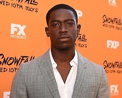LOS ANGELES - JUNE 26: Damson Idris attends FX Networks and FX Productions Premiere event for 'Snowfall' at The Theatre at the Ace Hotel on June 26, 2017 in Los Angeles, California. (Photo by Frank Micelotta//FX/PictureGroup) *** Please Use Credit from Credit Field ***