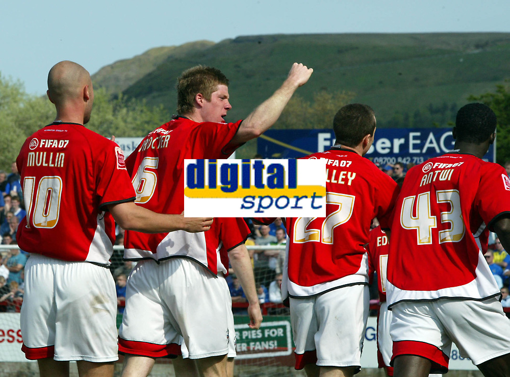 Photo: Paul Greenwood.<br /> Accrington Stanley v Macclesfield Town. Coca Cola League 2. 28/04/2007.<br /> Accrington's Andrew Proctor (6) celebrates his second goal