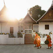 Young monks at Wat Xieng Thong in Luang Prabang