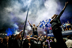 West Bromwich Albion fans celebrate outside the Hawthorns after their side clinch promotion to the Premier League - Mandatory by-line: Robbie Stephenson/JMP - 22/07/2020 - FOOTBALL - The Hawthorns - West Bromwich, England - West Bromwich Albion v Queens Park Rangers - Sky Bet Championship