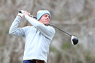 WILMINGTON, NC - MARCH 19: North Carolina's William Register tees off on the Marsh Course third hole. The first round of the 2017 Seahawk Intercollegiate Men's Golf Tournament was held on March 19, 2017, at the Country Club of Landover Nicklaus Course in Wilmington, NC.