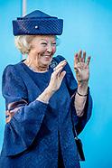 Prinses Beatrix der Nederlanden opent woensdagmiddag 13 september 2017 het nieuwe opslaggebouw voor