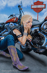 """Finishing Touch""<br /> Painting by Scott Jacobs 2013<br /> <br /> A close family friend, Sarah Campbell, modeled<br /> for this piece which has been one of Scotts most<br /> well known images."