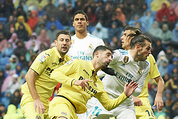 January 13, 2018 - Madrid, Spain - Gareth Bale (midfielder; Real Madrid), Alvaro Gonzalez (defender; Villarreal CF) in action during La Liga match between Real Madrid and Villareal CF at Santiago Bernabeu on January 13, 2018 in Madrid (Credit Image: © Jack Abuin via ZUMA Wire)