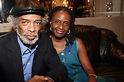 l to r: Gil Scott-Heron and Dr. Brenda Greene at Gil Scott-Heron Produced by Jill Newman Productions held at The Blue Note Jazz Club on Augustt 16, 2009 in New York City...The Legendary Gil Scott-Heron played two sets at Blue Note to sold out crowd..***exclusive***