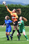Central Football's Amelia Simmers makes a save in the National womens league football match, Central Football v Southern United, Massey University, Palmerston North, Sunday, December 02, 2018. Copyright photo: Kerry Marshall / www.photosport.nz