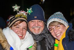 Th eGarcia family from Florida - Claudia, dad Omar and his wife Janette. Edinburgh's Hogmanay 2019