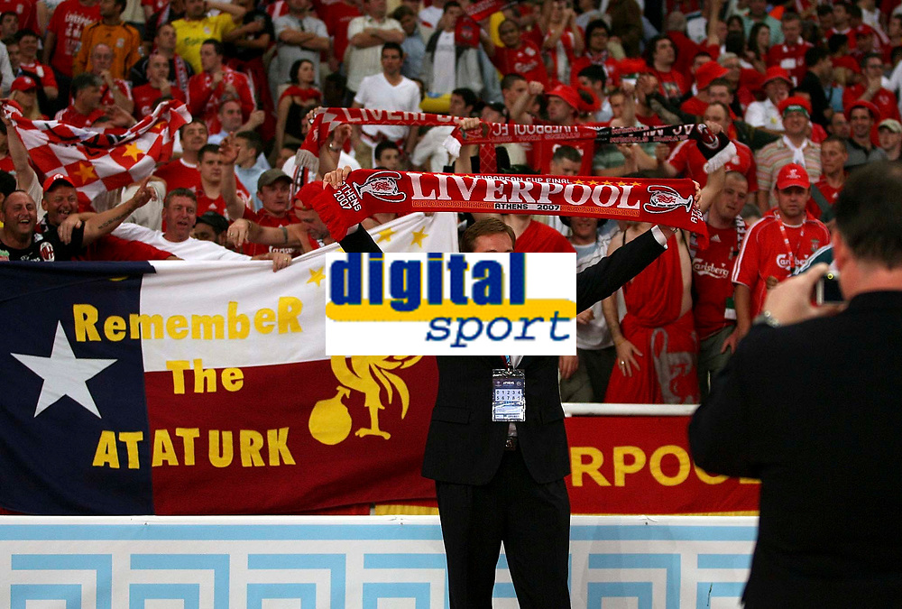 Photo: Paul Thomas.<br /> AC Milan v Liverpool. UEFA Champions League Final. 23/05/2007.<br /> <br /> Son of Tom Hicks, (half owner of Liverpool), Foster Hicks before kick-off.