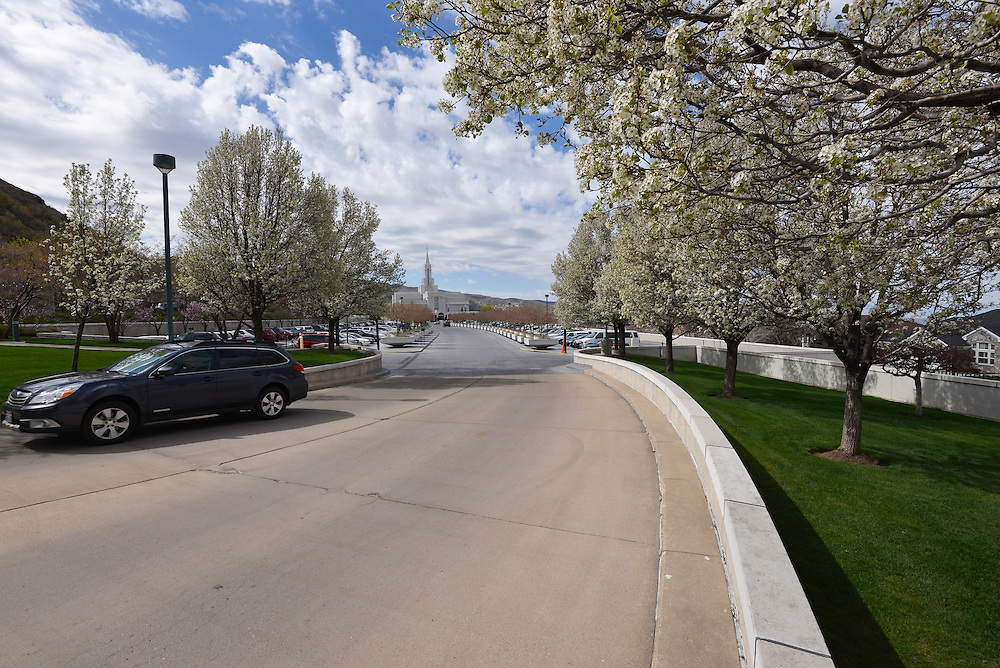 Driveway of the Mormon temple in Bountiful, Utah.
