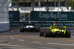 March 11, 2018 - St. Petersburg, Florida, United States of America - March 11, 2018 - St. Petersburg, Florida, USA: Simon Pagenaud (22) battles for position during the Firestone Grand Prix of St. Petersburg at Streets of St. Petersburg in St. Petersburg, Florida. (Credit Image: © Justin R. Noe Asp Inc/ASP via ZUMA Wire)