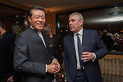 THE CHINESE AMBASSADOR; PRINCE ANDREW;, Chinese New Year dinner given by Sir David Tang. China Tang. Park Lane. London. 4 February 2013.