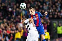 FC Barcelona's Lucas Digne during Champions League match between Futbol Club Barcelona and VfL Borussia Mönchengladbach  at Camp Nou Stadium in Barcelona , Spain. December 06, 2016. (ALTERPHOTOS/Rodrigo Jimenez)