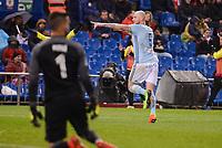Celta de Vigo's Pablo Hernandez celebrating a goal during La Liga match between Atletico de Madrid and Celta de Vigol at Vicente Calderon Stadium in Madrid, Spain. December 03, 2016. (ALTERPHOTOS/BorjaB.Hojas)
