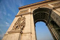The Arc de Triomphe, Paris, France.