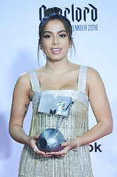 November 4, 2018 - Madrid, Madrid, Spain - Anitta poses in the press room during the 25th MTV EMAs 2018 held at Bilbao Exhibition Centre 'BEC' on November 5, 2018 in Madrid, Spain (Credit Image: © Jack Abuin/ZUMA Wire)