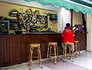 Courtyard bar at the Hotel Ciego de Avila, Cuba.