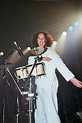 Israel, Tel Aviv, drummer during a Heavy Metal rock performance