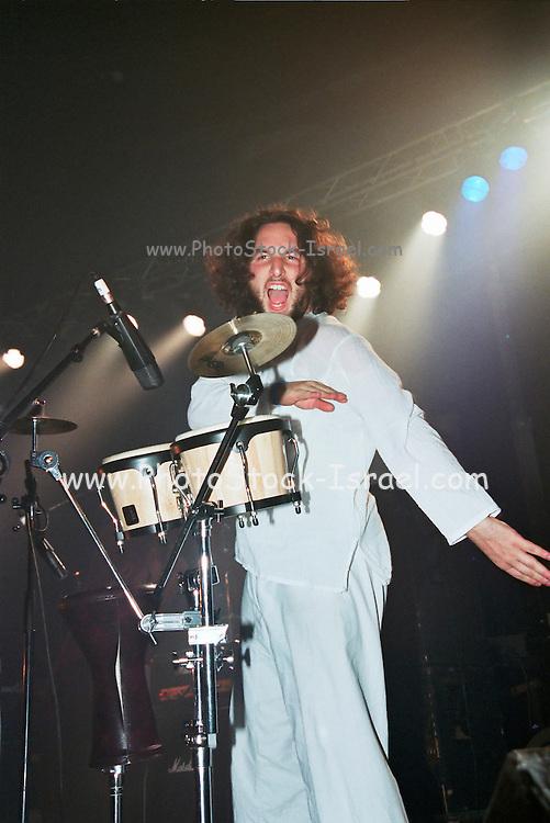 Israel, Tel Aviv, drummer during a Heavy Metal rock performance
