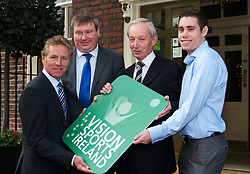 """PRESS RELEASE <br />Jason Smyth and Minister Leo Varadkar launch Vision Sports Ireland.  <br /><br />Thursday, 19 September, Dublin.<br /><br />Four time Paralympic gold medallist and World Champion, Jason Smyth, and Minister for Transport, Tourism & Sport, Leo Varadkar, today launched Vision Sports Ireland at a reception in central Dublin. Formerly Irish Blind Sports, the organisation has been renamed and rebranded to mark its 25th anniversary and to reflect the needs of its members. <br /><br />Pictured at the  launched Vision Sports Ireland at a reception in central Dublin. Formerly Irish Blind Sports, the organisation has been renamed and rebranded to mark its 25th anniversary and to reflect the needs of its members.<br /><br />Were life to right.<br />Senator Eamonn Coghlan.<br />Martin Conway, Clare Senator and Seanad Spokesperson on Disability, <br />Robert Dobbyn, Chairperson Vision Sports Ireland.<br />Jason Smyth, Paralympic Double Gold Sprinter.<br /><br />Speaking at the opening Minister Varadkar said: """"This is the start of a new era for vision impaired sports people in Ireland and I congratulate Vision Sports Ireland for reaching out to the community. Sport can, and should, be open to everyone, and I know that this organisation is striving to provide access to activities right across the country. The Government continues to support this area and awarded €36,000 to Vision Sports Ireland through the Sports Council this year, in addition to support for elite athletes through Paralympics Ireland.""""<br />Vision Sports Ireland assists vision impaired people in Ireland, of all ages, to access sports at all levels, from leisure to elite, in their own communities where possible. The Organisation offers a range of sports, including tandem cycling, football, swimming, golf and athletics and hosts, both,  national and international competitions. <br />Senator Eamonn Coghlan, a valued supporter of Vision Sports Ireland, former three time Olympian and World athletics """