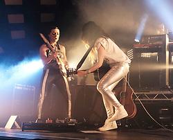 KT Tunstall at Barrowlands Glasgow, UK tour of album 'Wax'<br /> <br /> Pictured: KT Tunstall and guitarist Hattie Moran<br /> <br /> (c) Aimee Todd | Edinburgh Elite media