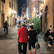 Street life in Florence, Italy, the mecca for Renaissance art, architecture and leather goods.