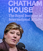 November 28, 2019, England, GBR: ritish shadow foreign secretary Emily Thornberry during a debate about Foreign Affairs at the Royal Institute of International Affairs London, Thursday, Nov. 28, 2019. (Credit Image: © Vedat Xhymshiti/ZUMA Wire)