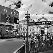 Piccadilly Circus - London, UK - Black & White