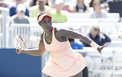 September 1, 2017 - New York, New York, United States - Sloane Stephens of USA returns ball during match against Ashleigh Barty of Australia at US Open Championships at Billie Jean King National Tennis Center (Credit Image: © Lev Radin/Pacific Press via ZUMA Wire)