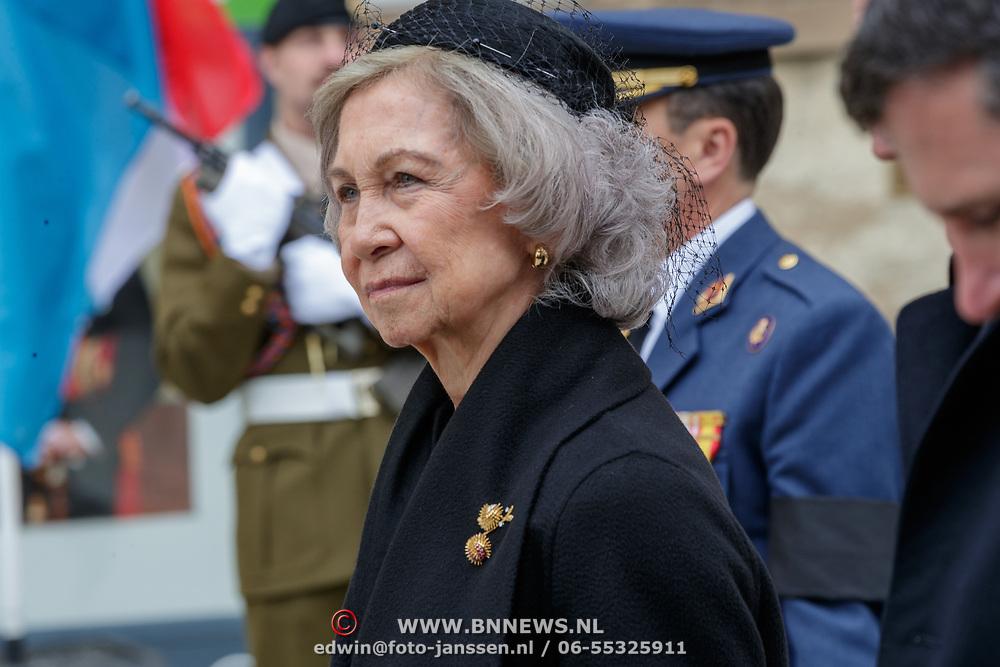 LUX/Luxemburg/20190504 -  Funeral<br /> of HRH Grand Duke Jean, Uitvaart Groothertog Jean, KonIngin Sofia van Spanje