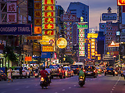 22 OCTOBER 2014 - BANGKOK, THAILAND: Yaowarat Road in Bangkok is the center of Bangkok's Chinatown and one of the most famous streets in the city for street food.      PHOTO BY JACK KURTZ