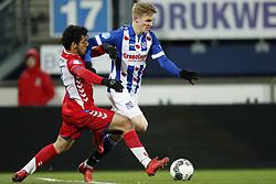 (L-R) Yassin Ayoub of FC Utrecht, Martin Odegaard of sc Heerenveen during the Dutch Eredivisie match between sc Heerenveen and Willem II Rotterdam at Abe Lenstra Stadium on March 17, 2018 in Heerenveen, The Netherlands