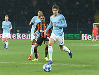 KHARKOV, UKRAINE - OCTOBER 23: John Stones of Manchester City in action during the Group F match of the UEFA Champions League between FC Shakhtar Donetsk and Manchester City at Metalist Stadium on October 23, 2018 in Kharkov, Ukraine. (Photo by MB Media/Getty Images)