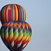 Hot Air balloons in the skies around  Battle Creek during practice day for the World Hot Air Ballooning Championships in Battle Creek, Michigan, USA. 17th August 2012. Photo Tim Clayton