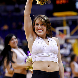 November 30, 2010; Baton Rouge, LA, USA;  A LSU Tigers tiger girl performs during the first half of a game against the Houston Cougars at the Pete Maravich Assembly Center.  Mandatory Credit: Derick E. Hingle