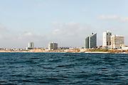Israel, Herzliya, As seen from west from the Mediterranean sea