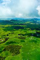Aerial view of the Waimangu Volcanic Valley, near Rotorua on the North Island, New Zealand