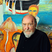Artist John Bellany at his studio and home in Saffron Walden, Essex.   Picture Robert Perry The Scotsman 6th Oct  2012