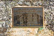 Alpine Club of Canada plaque on the Lake Oesa trail, Yoho National Park, British Columbia, Canada