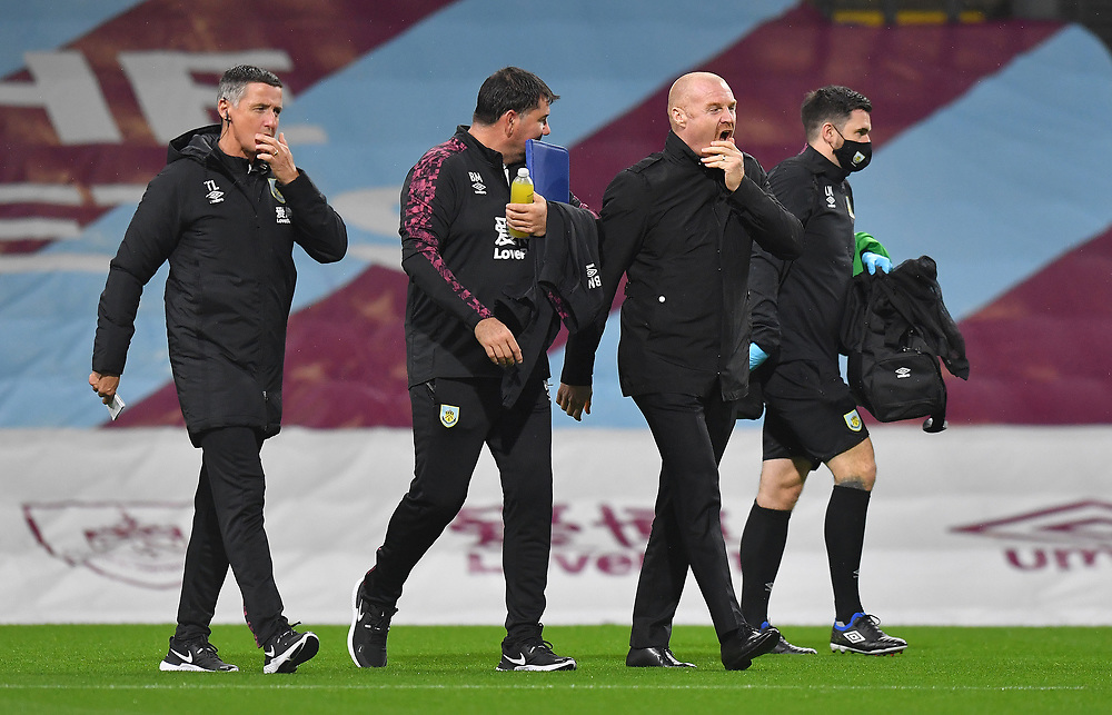 Burnley's Manager Sean Dyche<br /> <br /> Photographer Dave Howarth/CameraSport<br /> <br /> Carabao Cup Fourth Round - Burnley v Manchester City - Wednesday 30th September 2020 - Turf Moor - Burnley<br />  <br /> World Copyright © 2020 CameraSport. All rights reserved. 43 Linden Ave. Countesthorpe. Leicester. England. LE8 5PG - Tel: +44 (0) 116 277 4147 - admin@camerasport.com - www.camerasport.com