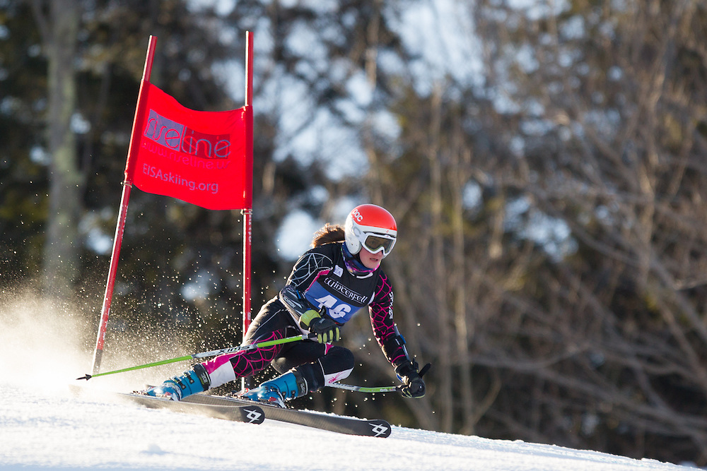 Alexandra Skovran, skis during the first run of the women's giant slalom at the University of New Hampshire Carnival at Attitash Mountain on January 24, 2014 in Bartlett, NH. (Dustin Satloff/EISA)
