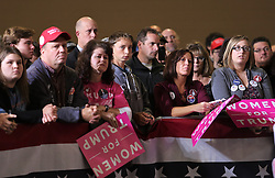 October 27, 2016 - Toledo, Ohio, United States - Supporters hold signs during a campaign rally at SeaGate Center in Toledo, Ohio, United States on October 27, 2016. (Credit Image: © Emily Molli/NurPhoto via ZUMA Press)
