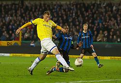 20.10.2011, Jan-Breydel Stadion, Bruegge, BEL, UEFA EL, Gruppe H, FC Bruegge (BEL) vs Birmingham City (ENG), im Bild  Birmingham City's Chris Wood scores the second goal against Club Brugge to win the game 2-1 during the UEFA Europa League Group H match at the Jan Breydelstadion.  // during UEFA Europa League group H match between FC Bruegge (BEL) vs Birmingham City (ENG), at Jan-Breydel Stadium, Brugge, Belgium on 20/10/2011. EXPA Pictures © 2011, PhotoCredit: EXPA/ Propaganda Photo/ David Rawcliff +++++ ATTENTION - OUT OF ENGLAND/GBR+++++