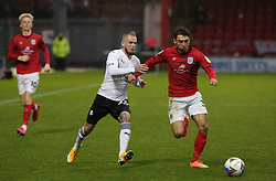 Joe Ward of Peterborough United in action with Harry Pickering of Crewe Alexandra - Mandatory by-line: Joe Dent/JMP - 14/11/2020 - FOOTBALL - Alexandra Stadium - Crewe, England - Crewe Alexandra v Peterborough United - Sky Bet League One