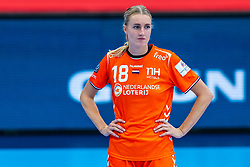 Kelly Dulfer of Netherlands after the Women's EHF Euro 2020 match between Netherlands and Norway at Sydbank Arena on december 10, 2020 in Kolding, Denmark (Photo by RHF Agency/Ronald Hoogendoorn)