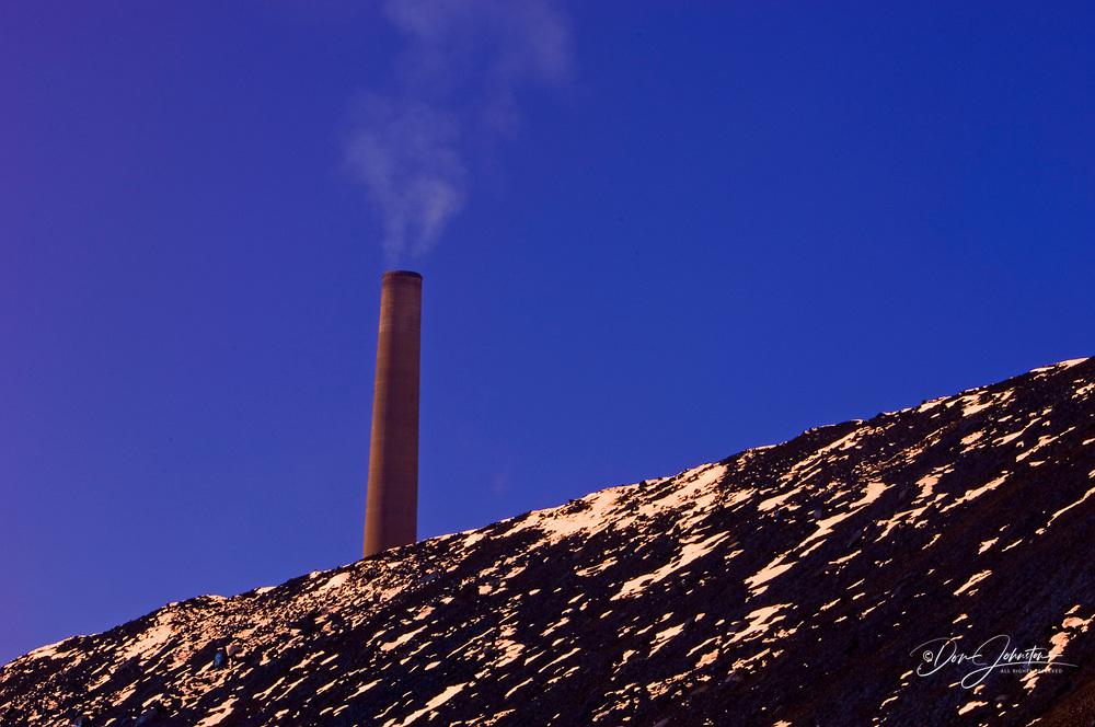 Slag dump slope stabilizing operation with INCO/CVRD Superstack, Sudbury, Ontario, Canada