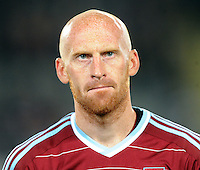 West Ham's James Collins against the Phoenix in the second match of the Football United Tour at Eden Park, Auckland, New Zealand, Wednesday, July 23, 2014.  Credit:SNPA / Ross Setford