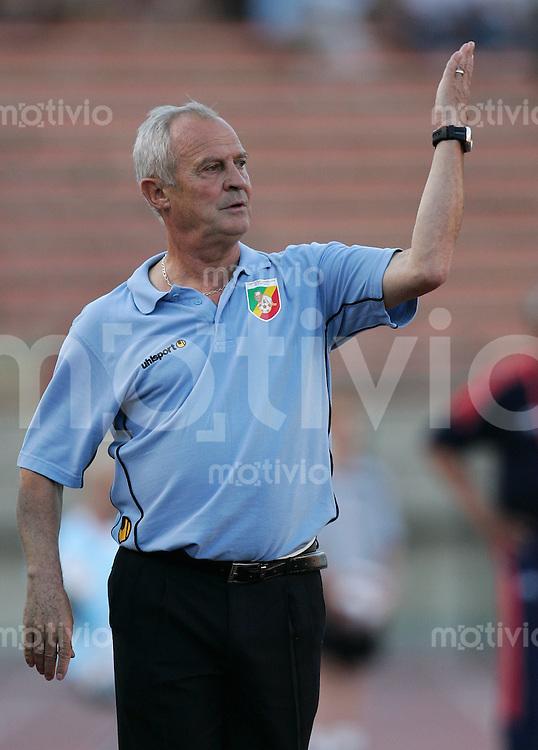 Fussball International U 20 WM  Chile vs Kongo Trainer Eddie HUDANSKI (CGO).