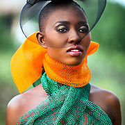 """The Net Girls is the birth child of a """"What If Moment"""".  In Ghana, street hawkers sell all sorts but of all their wares, the nets are the most colorful. And here is what happens when creative minds get to work in treating the bathing nets (sponges) as couture. Photos: Nana Kofi Acquah MUA: Hamid Vijay  Stylist: Kelvincent Models: Laurie and Gina"""
