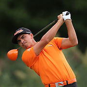 Rickie Fowler in action during the fourth round of theThe Barclays Golf Tournament at The Ridgewood Country Club, Paramus, New Jersey, USA. 24th August 2014. Photo Tim Clayton
